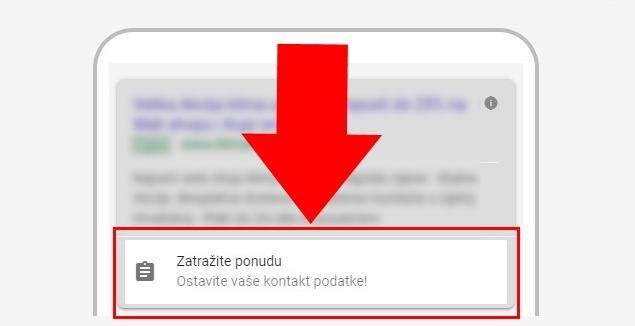 Nova opcija u Google Ads - Prikupite kontakt podatke potencijalnih klijenata